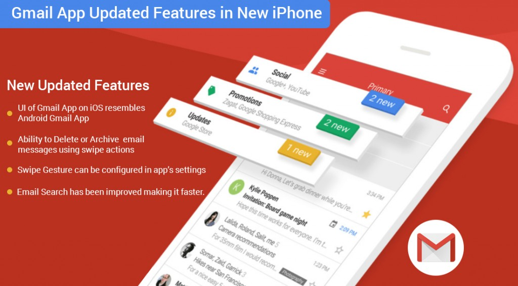 updated gmail app for iOS users